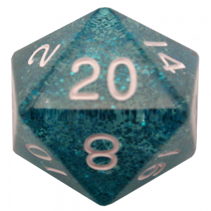 Ethereal Light Blue D20 Mega Acrylic