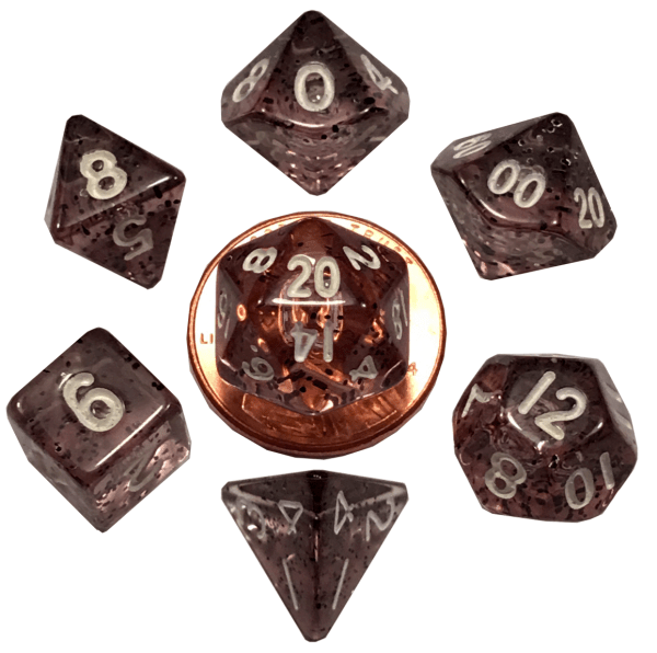 Ethereal Black Mini Poly Dice Set