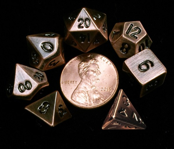 Copper Metal Mini Dice