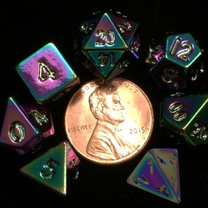 Rainbow Metal Mini Dice