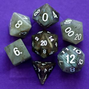 Labradorite: Full-Sized 16mm Polyhedral Set